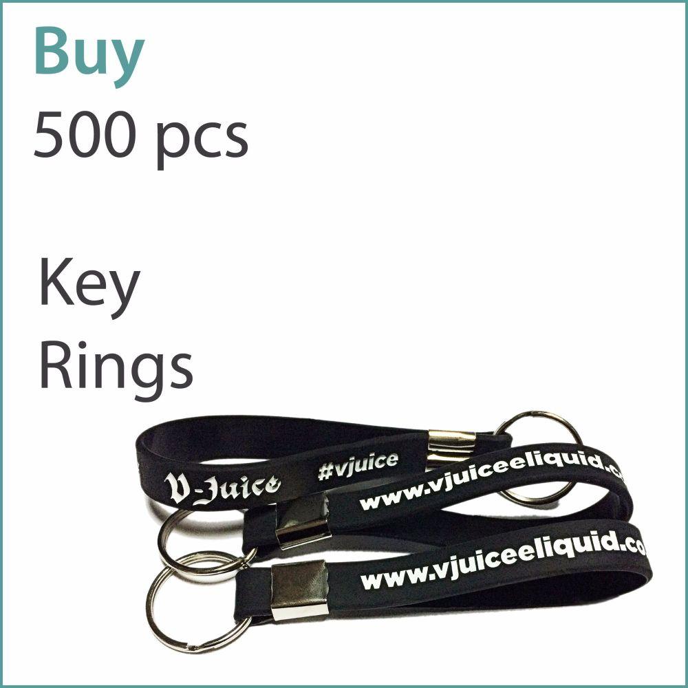 C2) Custom Silicone Keyrings x 500 pcs