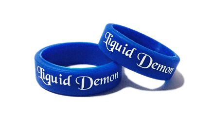 * Liquid Demon 2 Custom Printed Vape Bands by www.promo-bands.co.uk