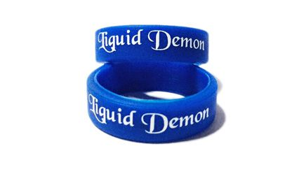 * Liquid Demon Custom Printed Vape Bands by www.promo-bands.co.uk