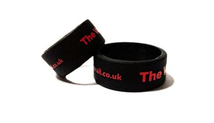 * The Vapour Trail Custom Printed Vape Bands by www.promo-bands.co.uk