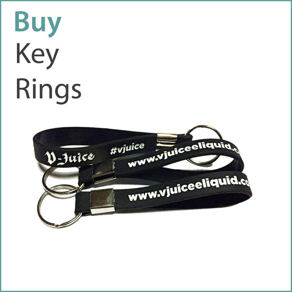 A4) Custom Silicone Keyrings