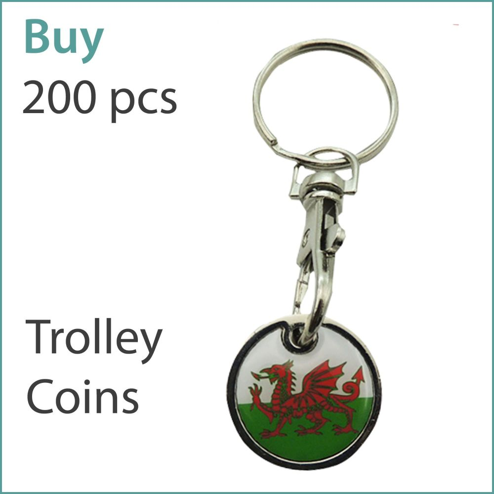 G1) Custom Trolley Coin Keyrings x 200 pcs