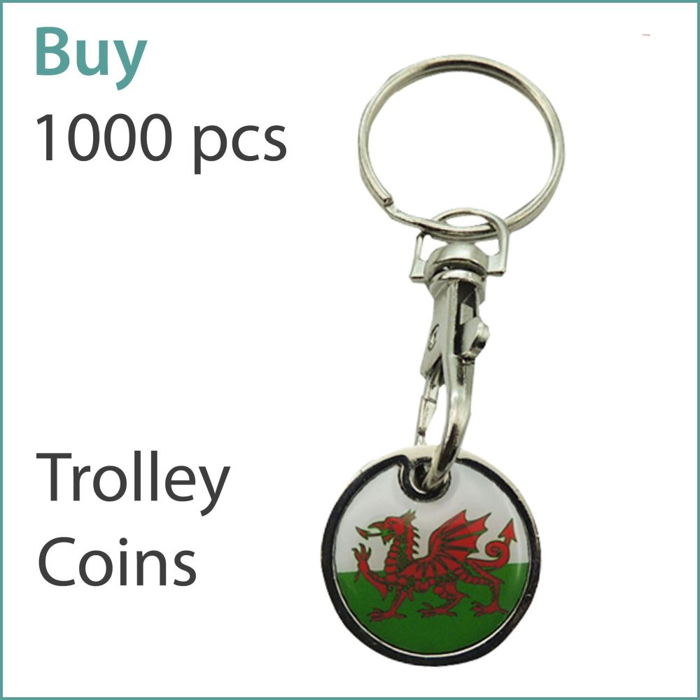 G3) Custom Trolley Coin Keyrings x 1000 pcs