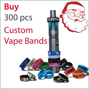I1) Christmas Offer Custom Vape Bands x 300 pcs
