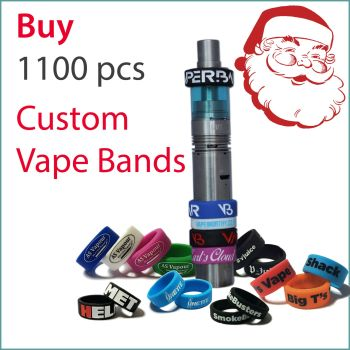 I3) Christmas Offer Custom Vape Bands x 1100 pcs