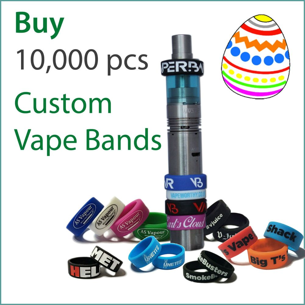 I8) Easter Offer Custom Vape Bands x 10,000 pcs