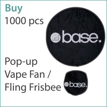 2) Custom Pop-Up Vape Fans / Frisbees x 1000 pcs (£1.19 ea.)