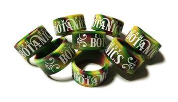 Ohm Boy Botanics - Custom Printed Swirled Silicone Vape Bands by VapeBands.