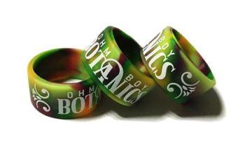 Ohm Boy Botanics 2 - Custom Printed Swirled Silicone Vape Bands by VapeBand