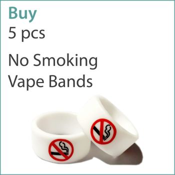 2) Printed Vape Bands x 5 pcs (No Smoking)