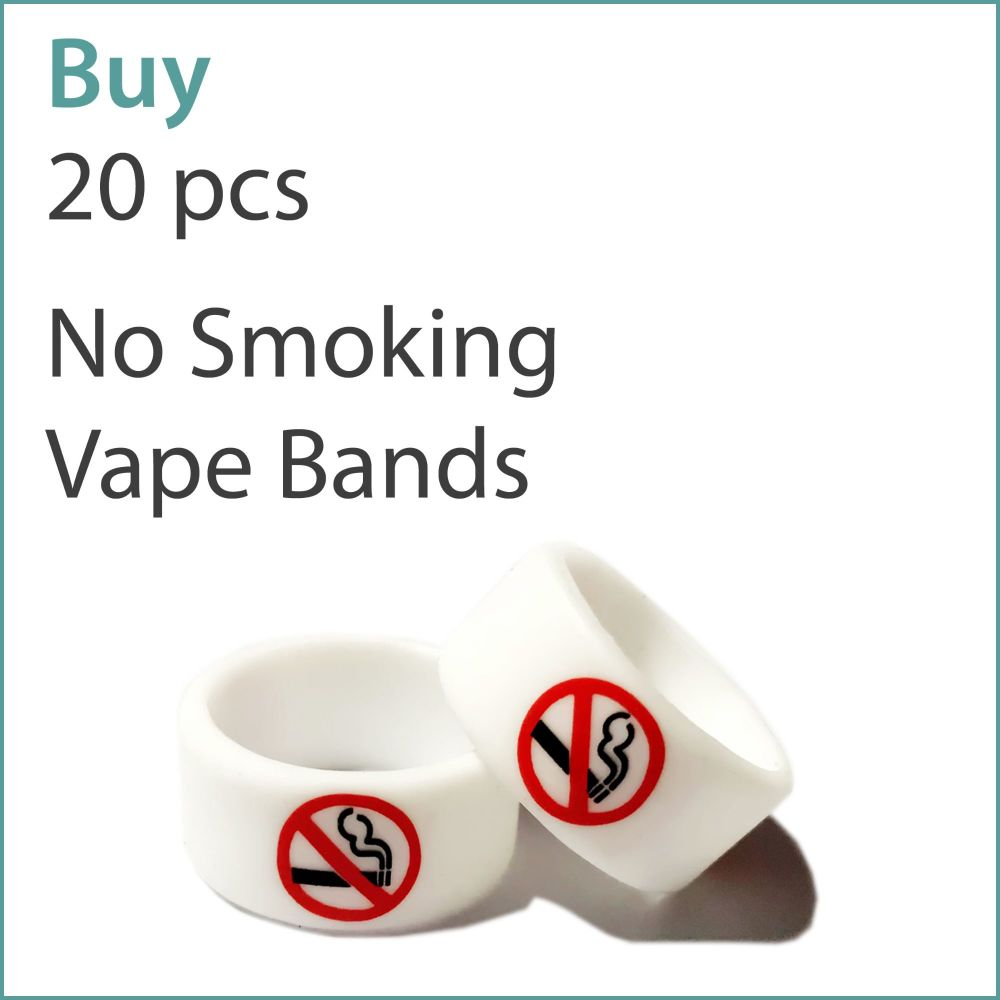 4) Printed Vape Bands x 20 pcs (No Smoking)