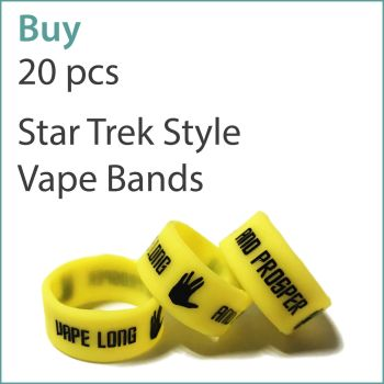 8) Printed Vape Bands x 20 pcs (Star Trek Style)
