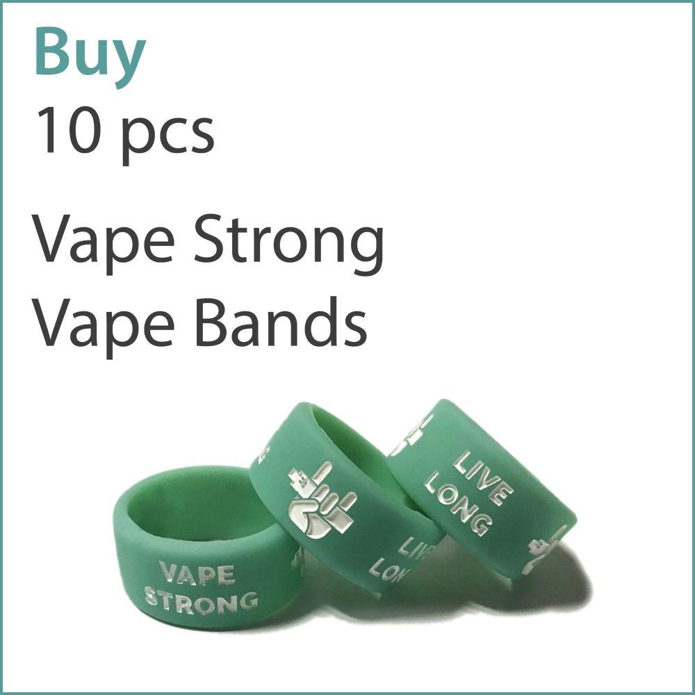 A3) Printed Vape Bands x 10 pcs (Vape Strong Live Long)