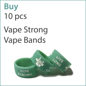 A3) Printed Vape Bands x 10 pcs (Vape Strong Live Long)