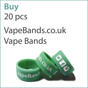 A8) Printed Vape Bands x 20 pcs (VapeBands.co.uk)