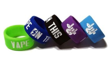 VAPE ON THIS - Custom Debossed & Infilled Silicone Ring Vape Tank Bands by