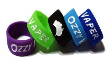Ozzy Vapers - Custom Debossed & Infilled Silicone Ring Vape Tank Bands by V