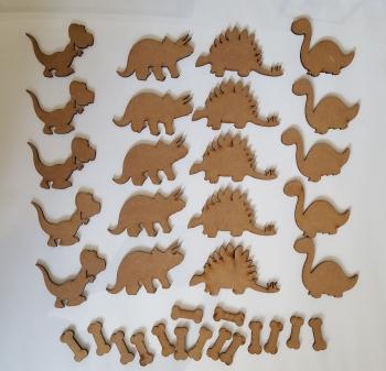 Craft Shape Bundle - Dinosaurs