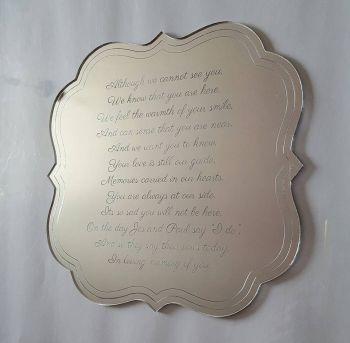 Mirrored Acrylic Sign
