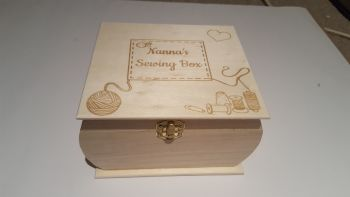 Wooden box curved