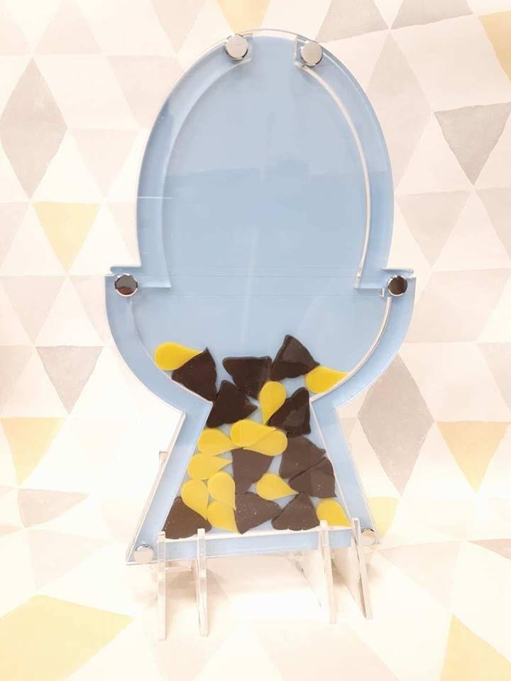 Toilet shape reward drop box