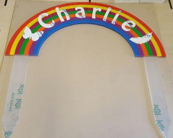 Acrylic rainbow
