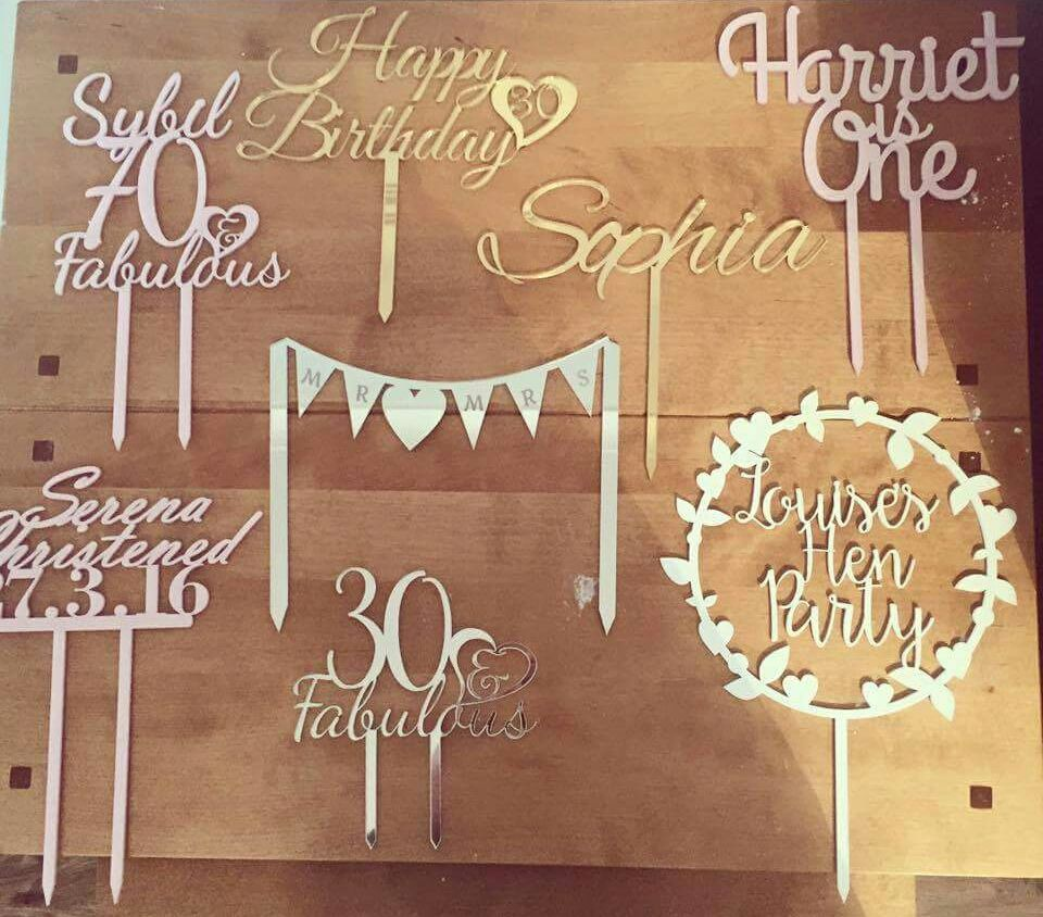 Bespoke Personalised Cake Toppers