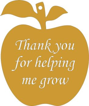 Apple Thanks for helping me grow (cut out)