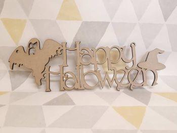 Happy Halloween plaque Ghost