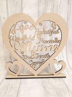 Mum heart plaque