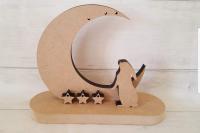 Rabbit with Moon & Stars