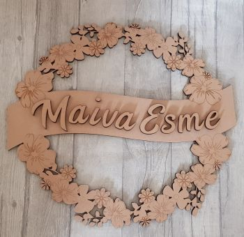 Flower name plaque