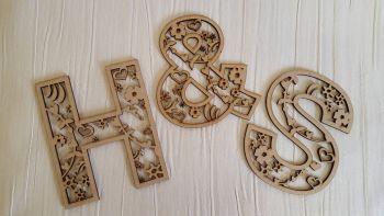 Heart/floral Decorative Letter
