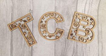 Stars and Swirls Decorative Letters