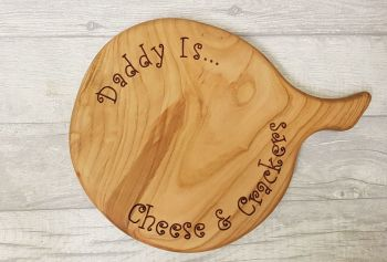 Solid beech chopping board (round)