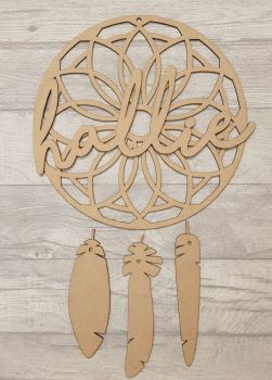 Patterned dream catcher with name