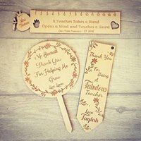 Set of 3 Teacher gifts (Personalised) (POST INCLUDED)