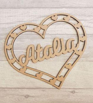 50cm Heart shape name hoop