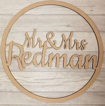 50cm Mr & Mrs.. Hoop