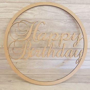 50cm Happy Birthday Hoop and Photo Prop Wands