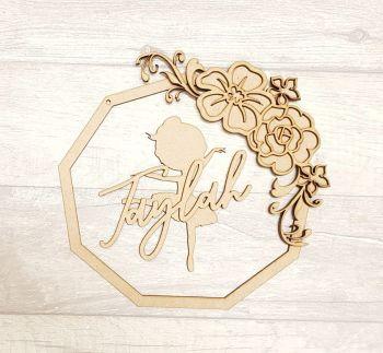polygon floral ballerina plaque