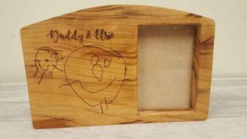 Cherry wood photo frame