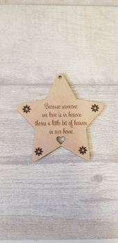 Star Heaven Quote Bauble