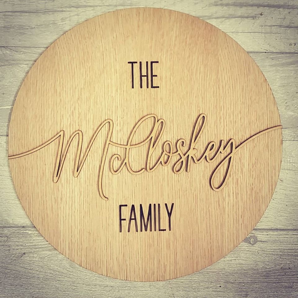 The *** Family Plaque