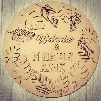Leaf circle plaque