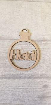 Simple Name Bauble