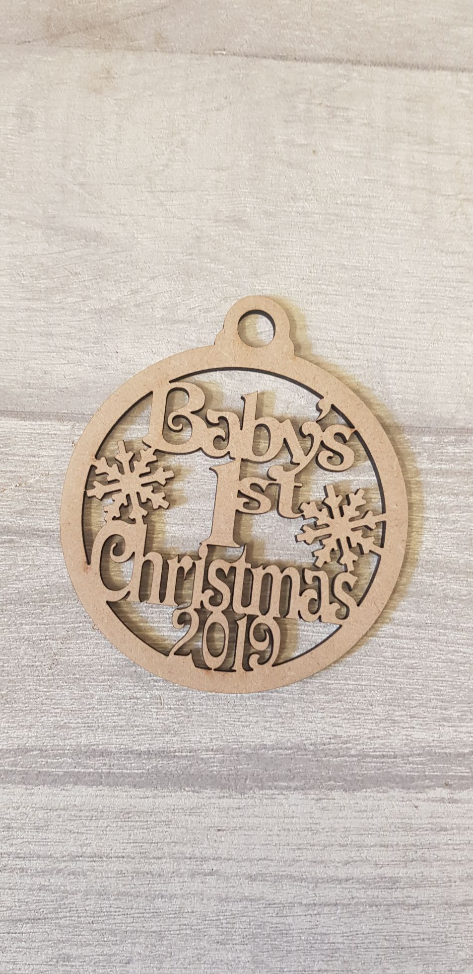Snowflake 1st Christmas Bauble (10 for £12)