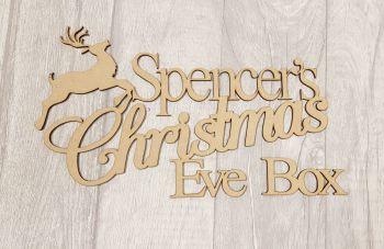 Reindeer Christmas Eve Box Topper