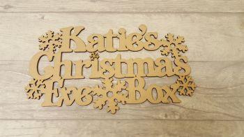 Snowflake Christmas Eve Box Topper