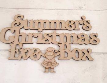 Santa Christmas Eve Box Topper